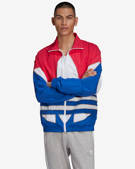 adidas Originals Big Trefoil Outline Woven Colorblock Jacket